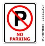 no parking sign on white... | Shutterstock . vector #118811524