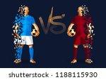 football  light blue and dark... | Shutterstock .eps vector #1188115930