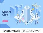 modern flat design isometric... | Shutterstock .eps vector #1188119290