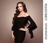 beautiful woman in elegant... | Shutterstock . vector #1188120556