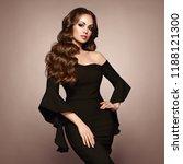beautiful woman in elegant... | Shutterstock . vector #1188121300