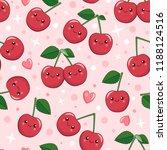 smiling cute cartoon kawaii... | Shutterstock .eps vector #1188124516