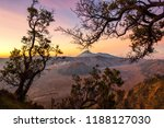 mount bromo in east java ... | Shutterstock . vector #1188127030