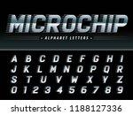 vector of futuristic italic... | Shutterstock .eps vector #1188127336