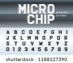 vector of futuristic alphabet... | Shutterstock .eps vector #1188127390