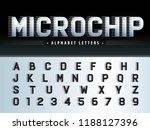 vector of futuristic alphabet... | Shutterstock .eps vector #1188127396