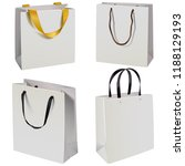 vector paper bag icons isolated ... | Shutterstock .eps vector #1188129193