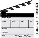 film clapper board. movie... | Shutterstock .eps vector #1188130390