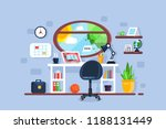 creative freelancer workplace... | Shutterstock .eps vector #1188131449