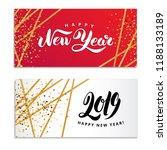 gold star happy new year logo | Shutterstock .eps vector #1188133189
