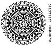 polynesian tattoo design.... | Shutterstock .eps vector #1188137980