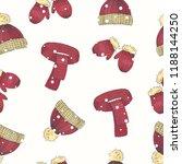 vector christmas set of hand...   Shutterstock .eps vector #1188144250