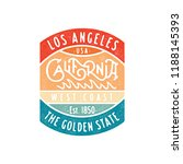 los angeles california vintage... | Shutterstock .eps vector #1188145393