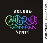 golden state california vintage ... | Shutterstock .eps vector #1188145426