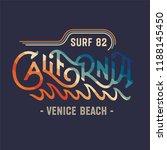 california surf vintage apparel ... | Shutterstock .eps vector #1188145450