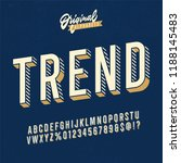 vintage 3d sans serif condensed ... | Shutterstock .eps vector #1188145483
