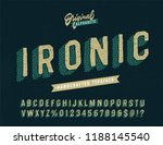 slanted 'ironic' funny hand... | Shutterstock .eps vector #1188145540