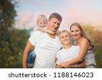 happy family having fun...   Shutterstock . vector #1188146023