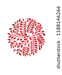 red leaves in a circle  texture ... | Shutterstock . vector #1188146266