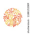 yellow leaves in a circle ... | Shutterstock . vector #1188152089