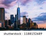 panoramic view of manhattan... | Shutterstock . vector #1188152689