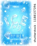 ice party flyer template.... | Shutterstock .eps vector #1188157396