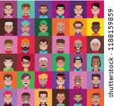 set of 35 avatar  color version  | Shutterstock .eps vector #1188159859