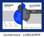 vector background brochure... | Shutterstock .eps vector #1188160909