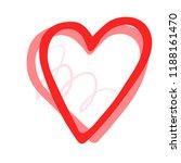 vector hand drawn heart. love... | Shutterstock .eps vector #1188161470