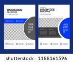 vector background brochure... | Shutterstock .eps vector #1188161596