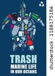 environmental banner plastic... | Shutterstock .eps vector #1188175186