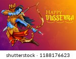 illustration of lord rama in... | Shutterstock .eps vector #1188176623