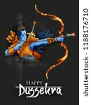 illustration of lord rama in... | Shutterstock .eps vector #1188176710