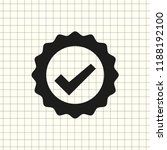 vector icon badge with ribbons   Shutterstock .eps vector #1188192100