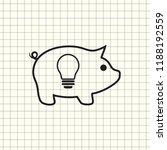 piggy bank simple vector...   Shutterstock .eps vector #1188192559