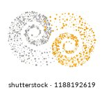 gold and silver glitter... | Shutterstock .eps vector #1188192619