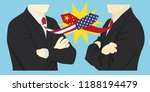 usa and china trade war.... | Shutterstock .eps vector #1188194479