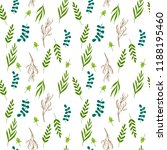 floral leaves. seamless pattern | Shutterstock . vector #1188195460