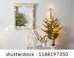 christmas decoration on... | Shutterstock . vector #1188197350