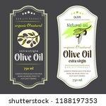 set of labels for olive oils.... | Shutterstock .eps vector #1188197353