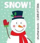 cute snowman  cute christmas... | Shutterstock .eps vector #1188197386