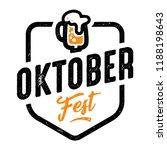 oktober fest label. beer... | Shutterstock .eps vector #1188198643