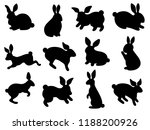 black silhouettes of easter... | Shutterstock .eps vector #1188200926
