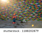 happy boy in bright suit with a ... | Shutterstock . vector #1188202879