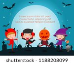 happy halloween poster party... | Shutterstock .eps vector #1188208099