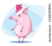 funny pig  boar  humorous... | Shutterstock .eps vector #1188209896
