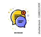 icon of two cute speech bubbles ... | Shutterstock .eps vector #1188211939