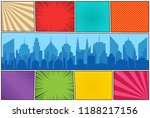 comic book page colorful... | Shutterstock .eps vector #1188217156