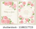 floral wedding invitation card... | Shutterstock .eps vector #1188217723