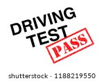 a driving test heading stamped... | Shutterstock . vector #1188219550